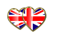heart english flag